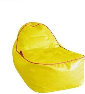 Sattva XXL Lounger Bean Bag Cover(Yellow)