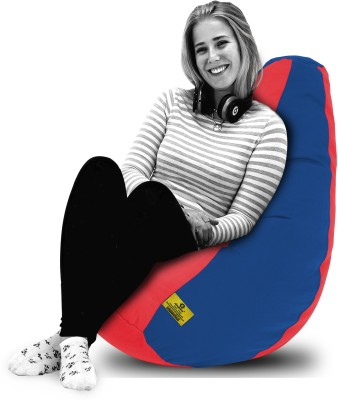 Dolphin Bean Bags XL Dolphin Xl Red/R.Blue-Fabric-Filled(With Beans) Bean Bag  With Bean Filling