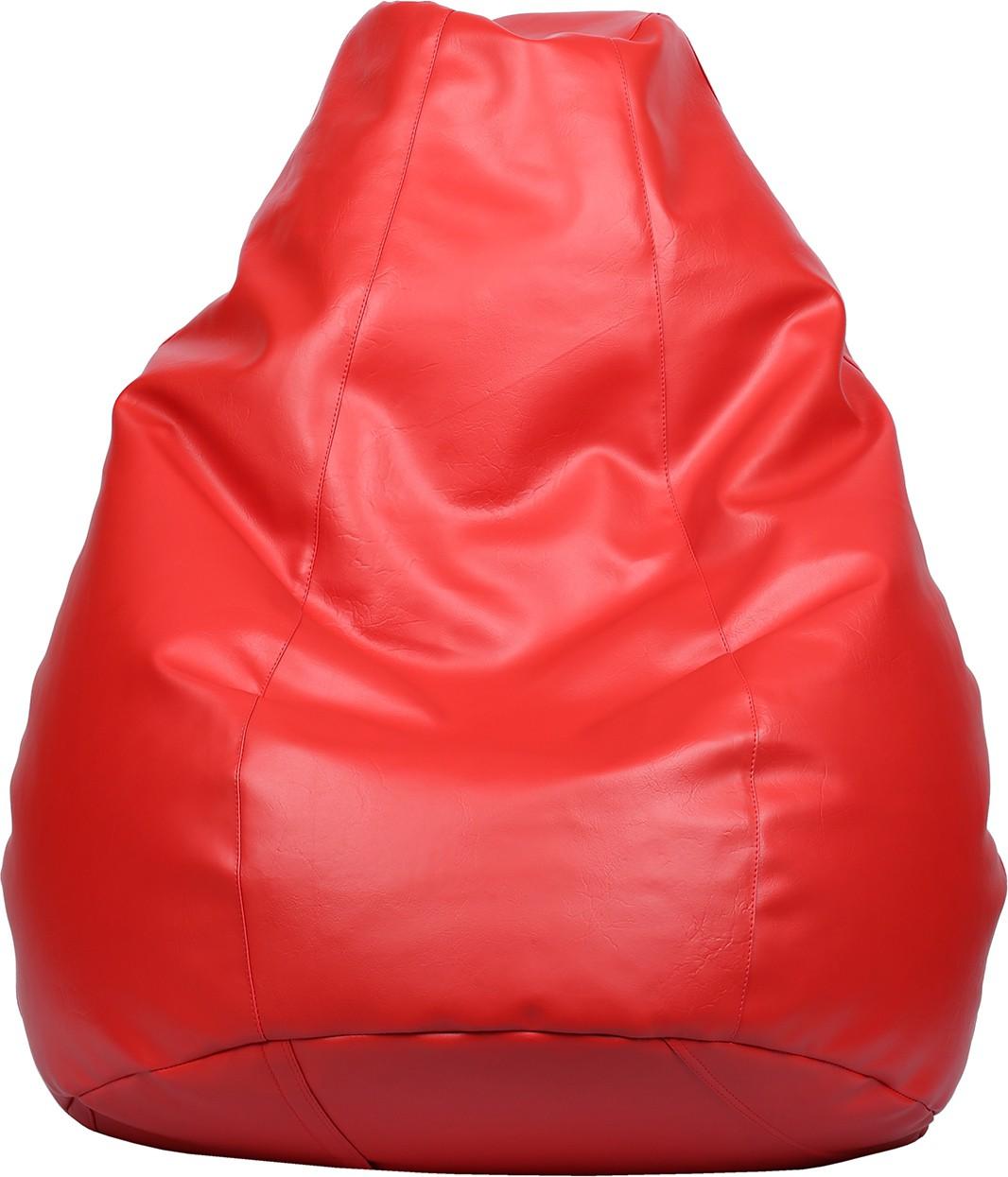 View VizwaSS XXXL Teardrop Bean Bag  With Bean Filling(Red) Furniture (VizwaSS)