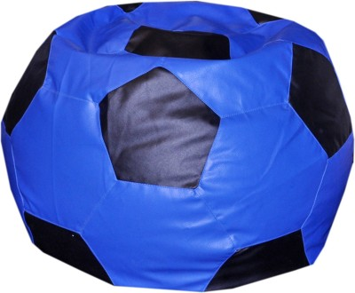 Comfy Bean Bags XL Bean Bag  With Bean Filling(Blue, Black)