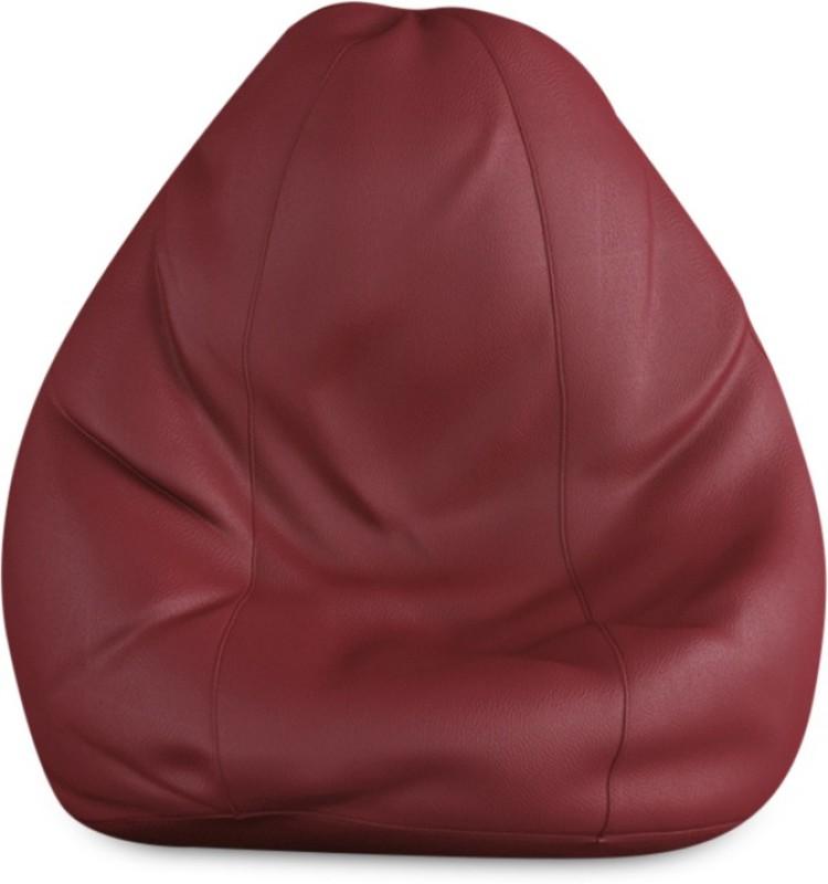 Beans Bag House Small Bean Bag Cover(Maroon)