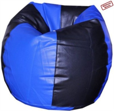 Fab Homez XL black/blue bean bag cover-XL Bean Bag  Cover (Without Filling)