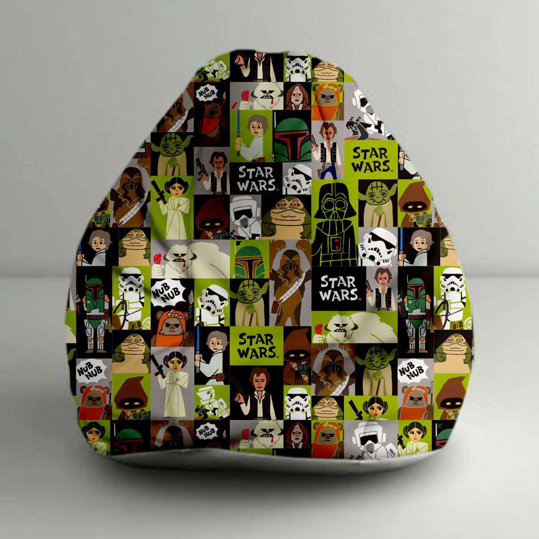 View Disney XXL Starwars Comic Digital Printed Bean Bag  With Bean Filling(Multicolor) Furniture (Disney)