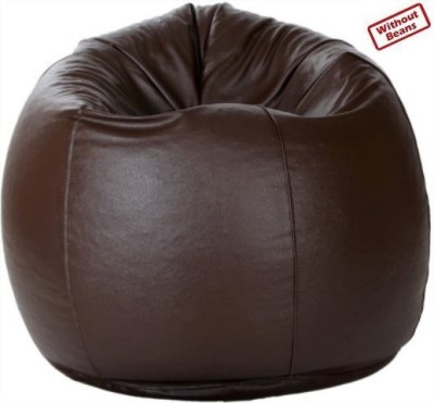 TJAR Large Leather Cover Teardrop Bean Bag  Cover (Without Filling)
