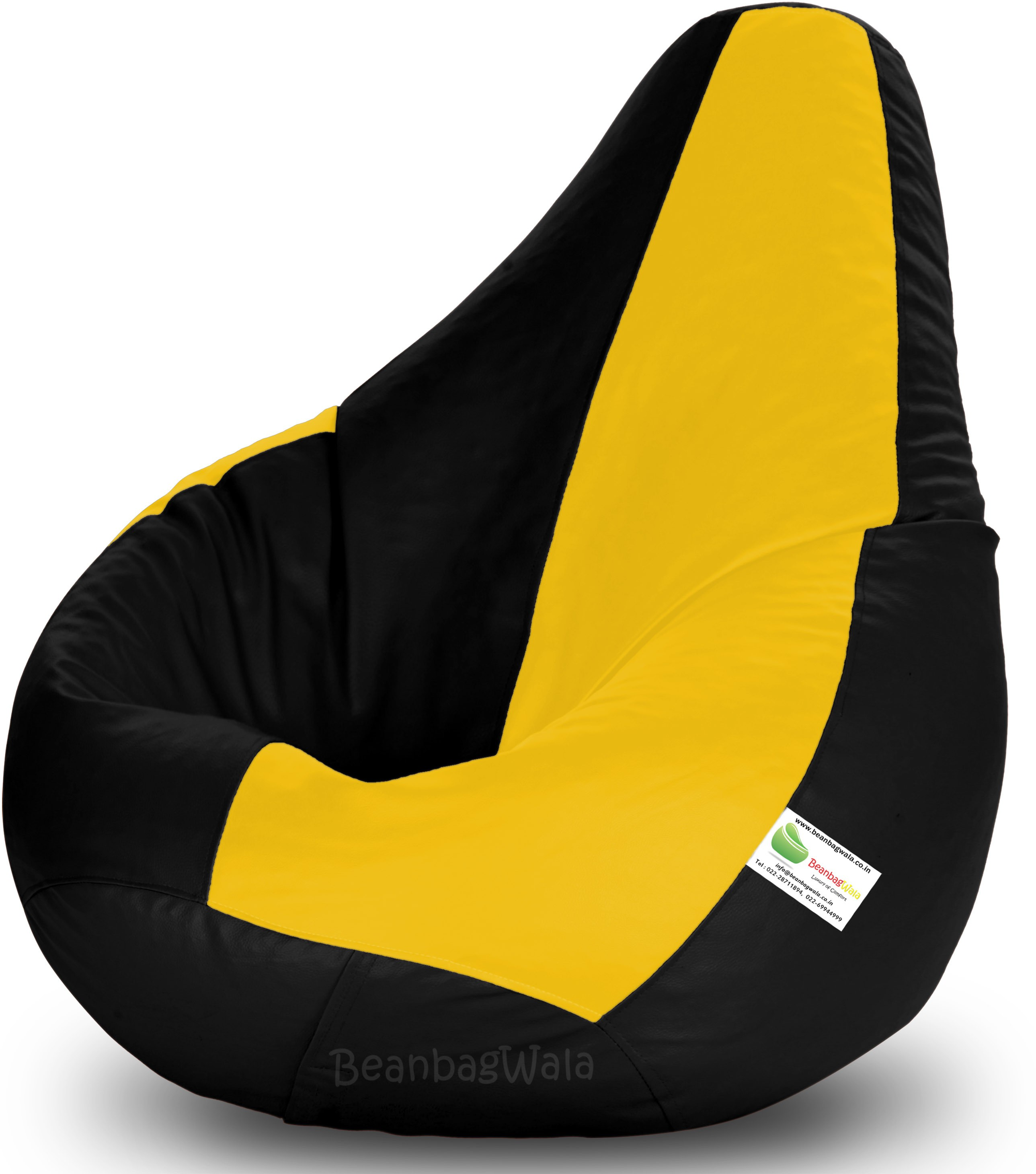 View Bean Bagwala XXXL Bean Bag  With Bean Filling(Multicolor) Furniture (Bean Bagwala)