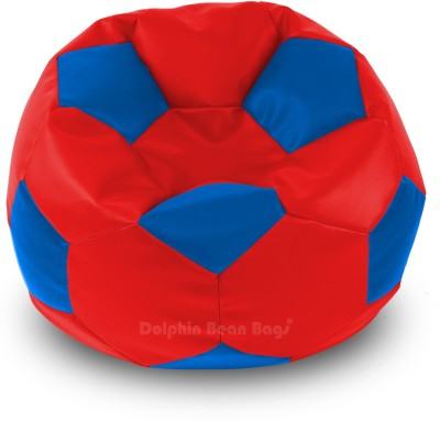 Dolphin Bean Bags XL DOLPHIN XL FOOTBALL BEAN BAG-BLUE/RED -With Fillers/Beans Bean Bag  With Bean Filling