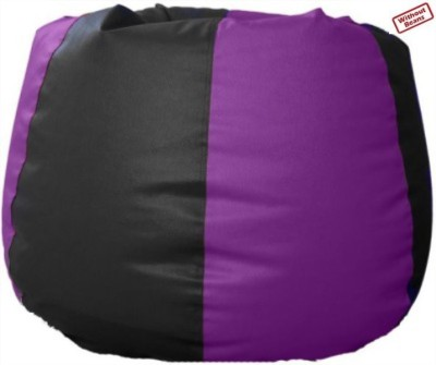 Fab Homez XXXL black/purple bean bag cover-XXXL Bean Bag  Cover (Without Filling)
