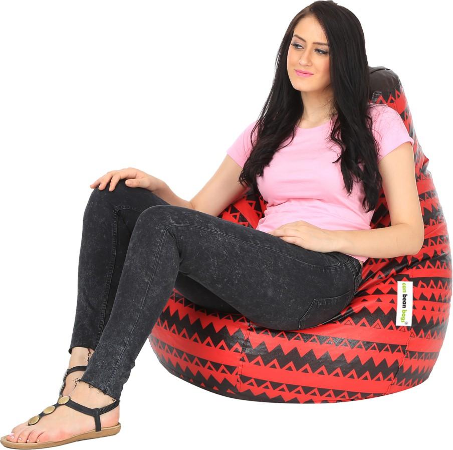 View Can Bean Bag XL Bean Bag Cover(Red, Black) Furniture (Can bean bags)
