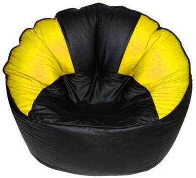Mr.Lazy XXXL Bean Bag Chair  With Bean Filling(Yellow)