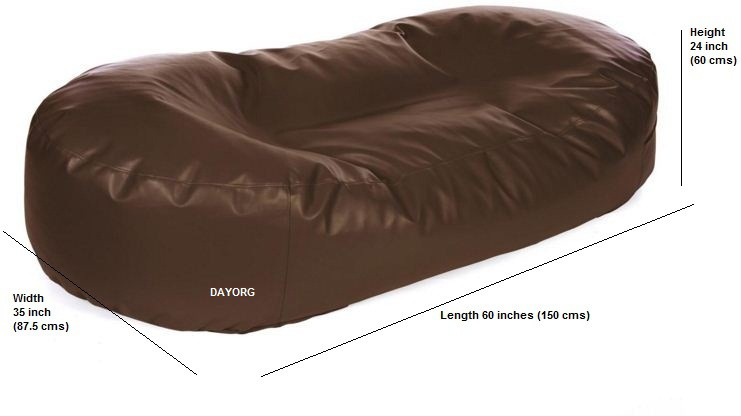 DAYORG XXXL Bean Bag Bed  Cover (Without Filling)
