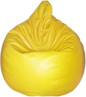 Comfort XXL Bean Bag  With Bean Filling(Yellow)