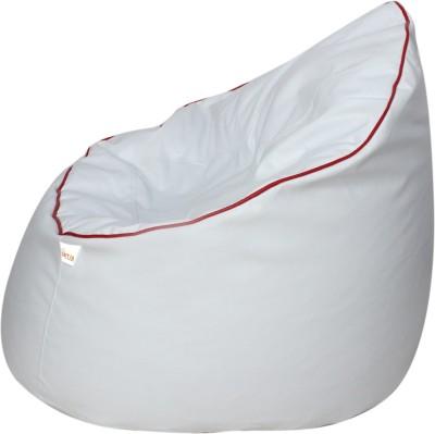 Sattva XXXL Muddha Bean Bag Sofa  With Bean Filling(White)