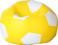 Comfy Bean Bags XL Bean Bag Cover(Yellow, White)
