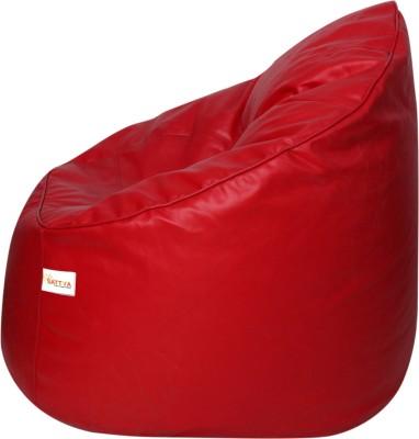 Sattva XXXL Muddha Bean Bag Sofa  With Bean Filling(Red)