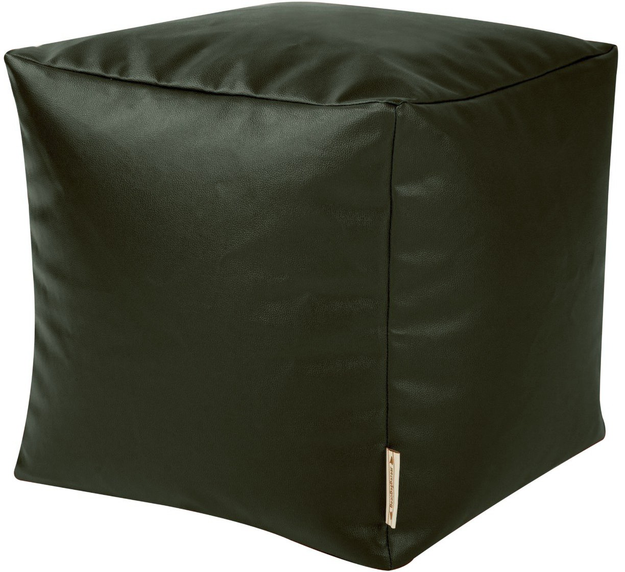 View Wraps N Drapz Leather Cocktail Ottoman(Finish Color - Black) Furniture (Wraps N Drapz)
