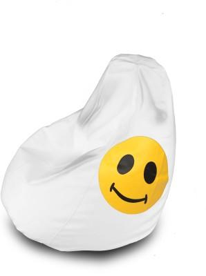 Dolphin Bean Bags XL DOLPHIN XL Bean Bag White-Smiley-FILLED(with Beans) Bean Bag  With Bean Filling