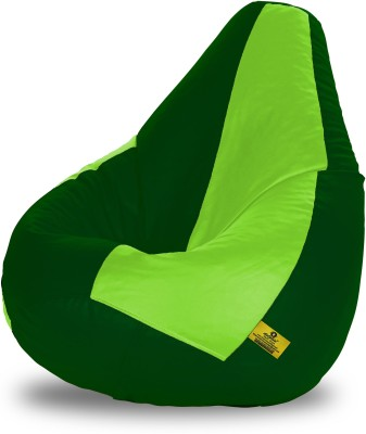 Dolphin Bean Bags XL Dolphin Xl F.Green&B.Green Bean Bag-Filled(With Beans) Bean Bag  With Bean Filling