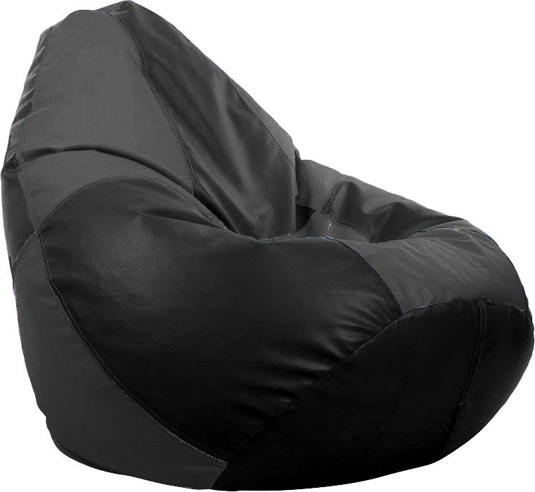 View Cosmo XXL Teardrop Bean Bag  With Bean Filling(Black, Grey) Furniture (Cosmo)