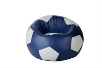 Comfy Bean Bags XXL Bean Bag Cover(Blue, White)