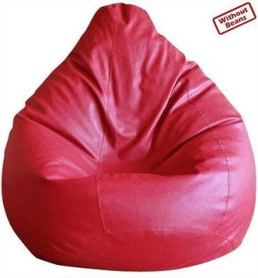 Fab Homez XXL Bean Bag Cover(Red)