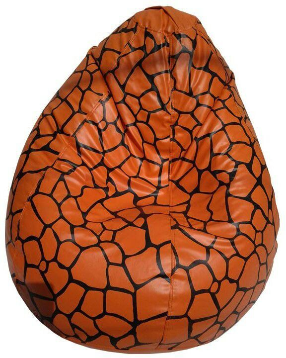 View Furnish Living XXL Bean Bag Cover(Orange, Black) Furniture (Furnish Living)