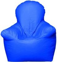 Star XXL Emperor Arm Chair Bean Bag Chair  With Bean Filling(Blue)