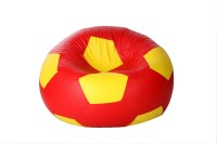 Comfy Bean Bags XXL Bean Bag Cover(Red, Yellow)
