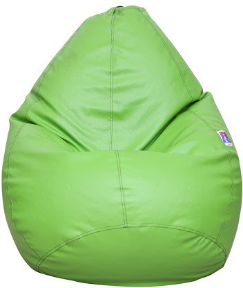 View Desire XL Teardrop Bean Bag  With Bean Filling(Green) Furniture (Desire)