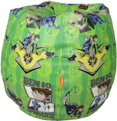 ORKA Ben 10 Small Bean Bag Leatherette S Teardrop Kid Bean Bag(Bead Filling, Color - Multicolor)