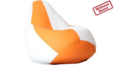 Comfy Bean Bags Large Teardrop Bean Bag  With Bean Filling(Orange, White)