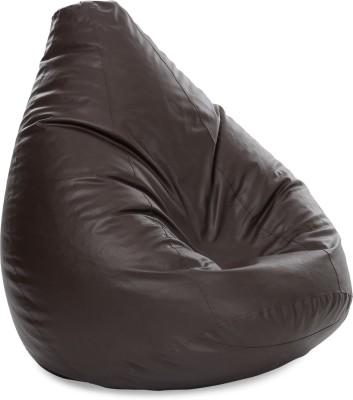 Style Homez XXXL Teardrop Bean Bag Cover(Brown)