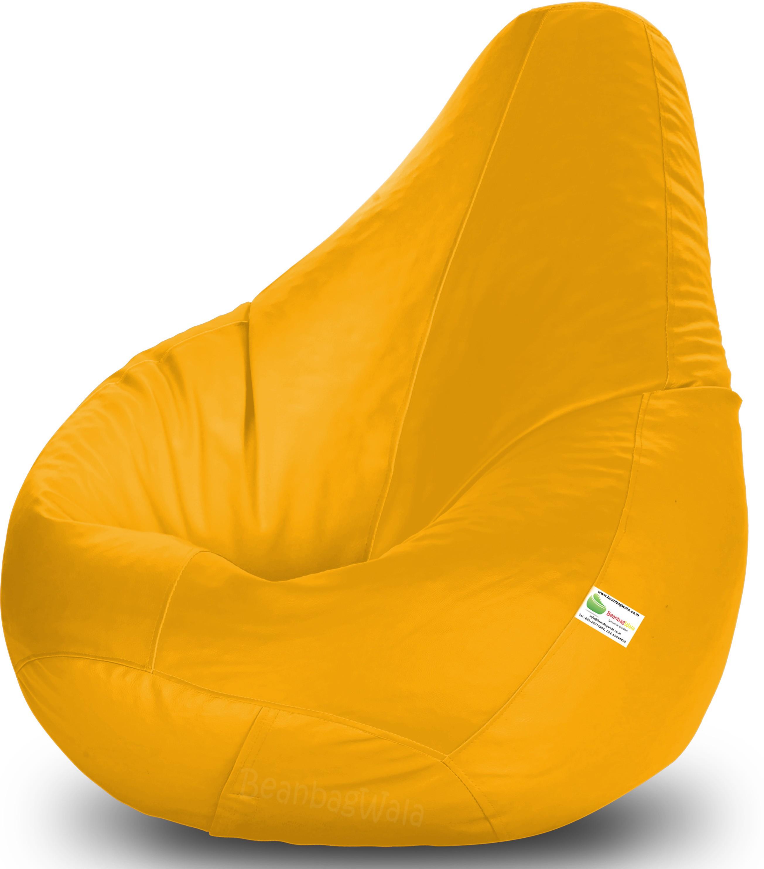View Bean Bagwala XXXL Bean Bag  With Bean Filling(Yellow) Price Online(Bean Bagwala)