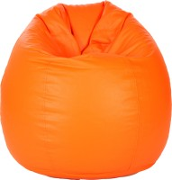 Comfy Bean Bags XXL Teardrop Bean Bag  With Bean Filling(Orange)