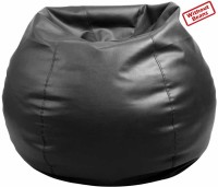 Fab Homez XXL Bean Bag Cover(Black)