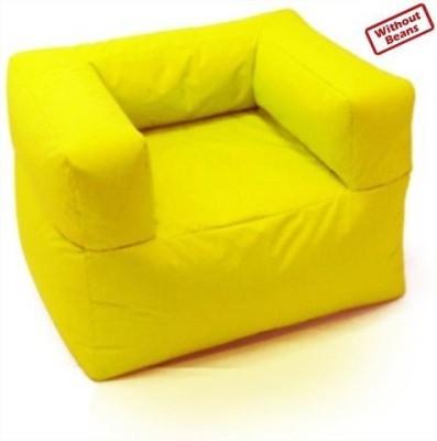 Bean Bag World XXXL Yellow Relax Sofa Bean Bag Sofa  Cover (Without Filling)