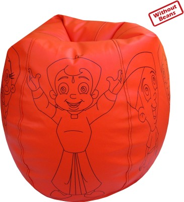 Fun ON XXXL Chhota Bheem Teardrop Bean Bag  Cover (Without Filling)