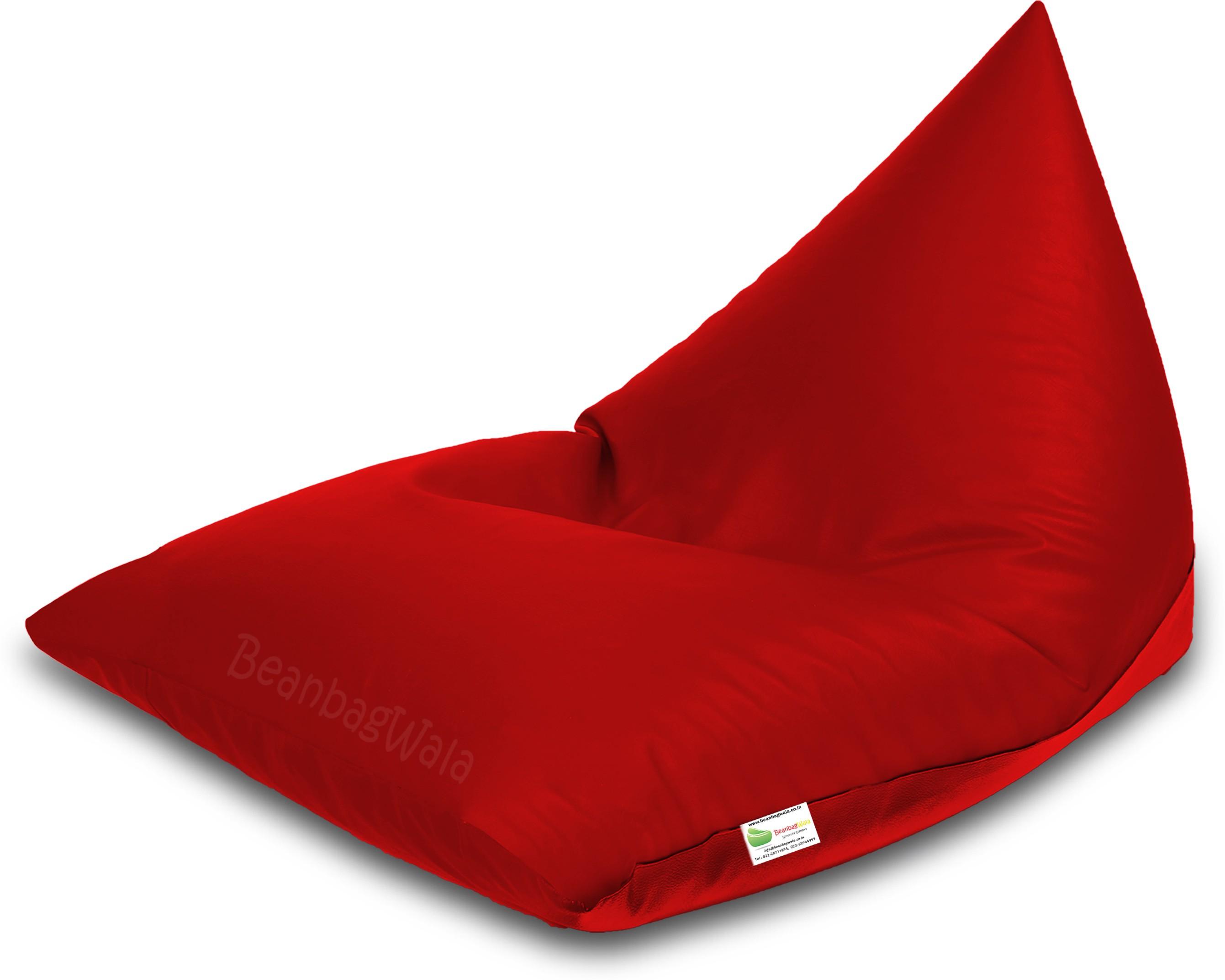 View Bean Bagwala XXXL BBWXXXL-03-Pyrd Bean Bag  With Bean Filling(Red) Furniture (Bean Bagwala)