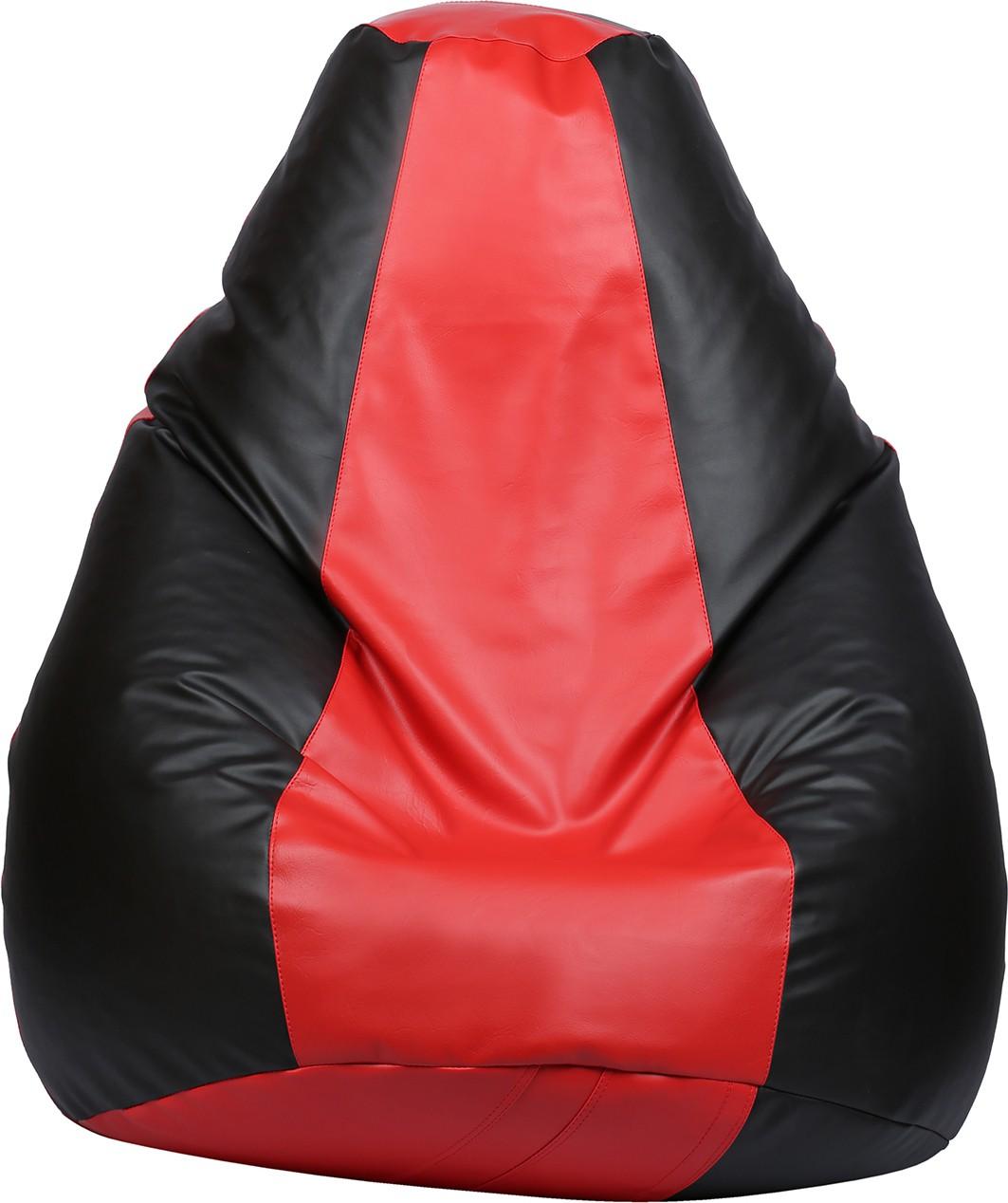View VizwaSS XXXL Teardrop Bean Bag  With Bean Filling(Black, Red) Furniture (VizwaSS)
