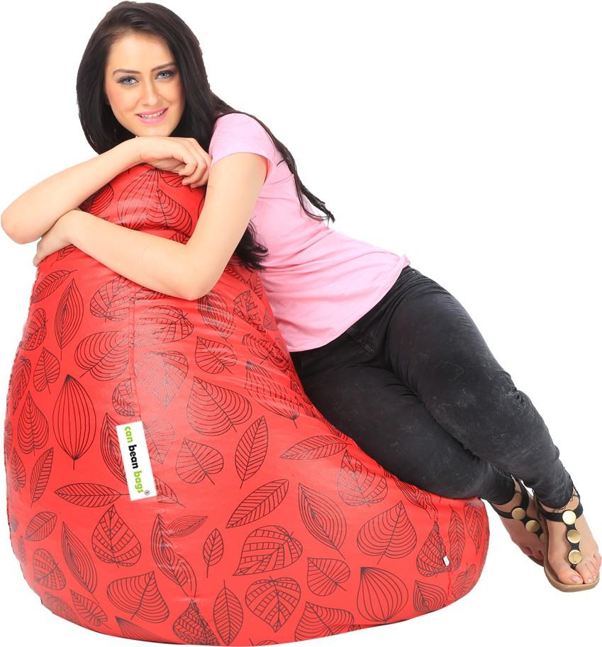 View Can Bean Bag XL Bean Bag  With Bean Filling(Red, Black) Furniture (Can bean bags)