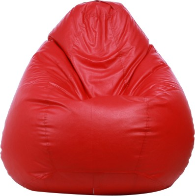 Star XL Classic Bean Bag  With Bean Filling(Red)