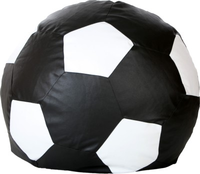 Comfy Bean Bags XL Bean Bag  With Bean Filling(Black, White)
