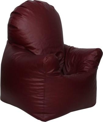 Sattva XXXL Arm Chair Bean Bag Chair  With Bean Filling(Maroon)