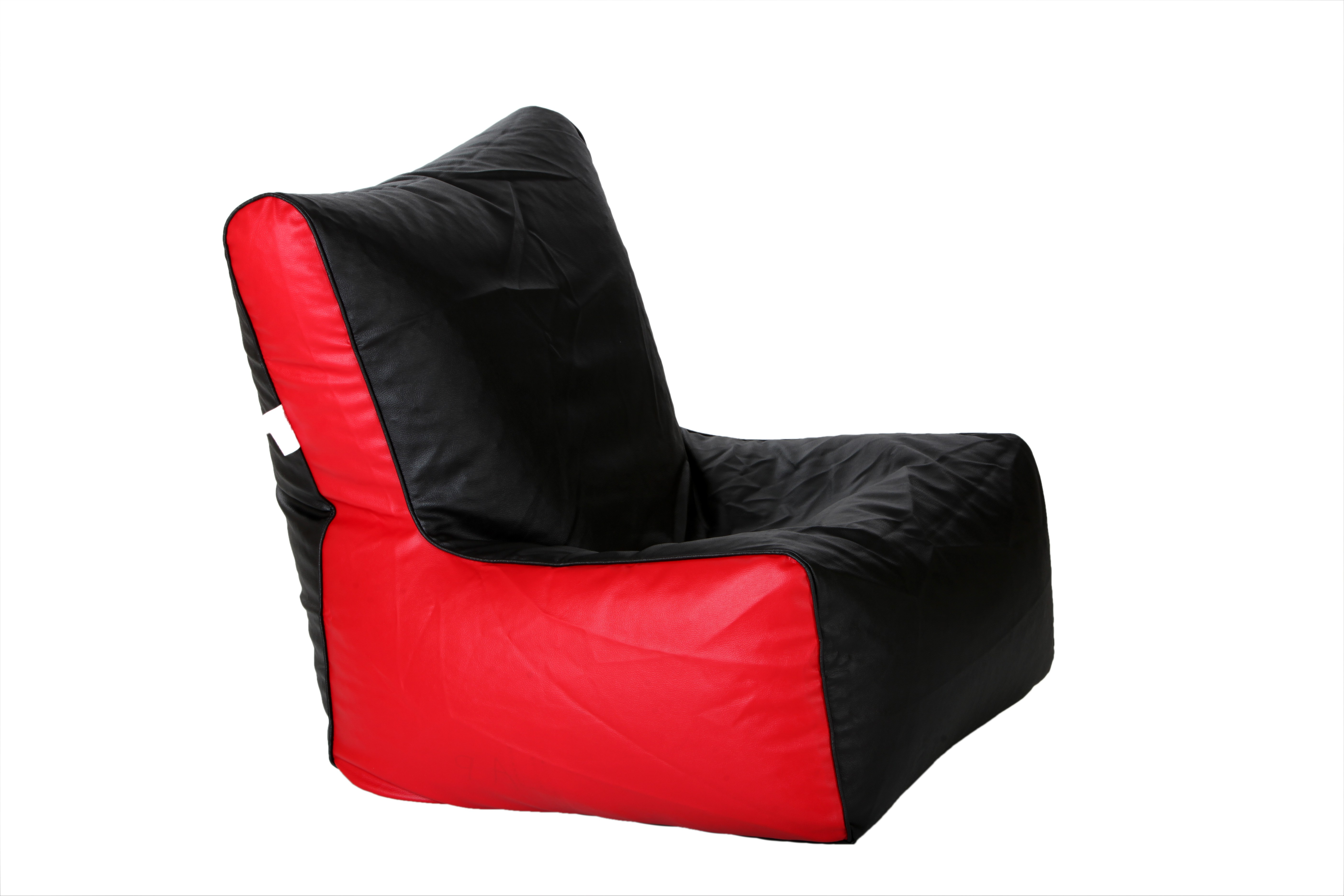 View Comfy Bean Bags XXL Bean Chair Cover(Black, Red) Furniture (Comfy Bean Bags)