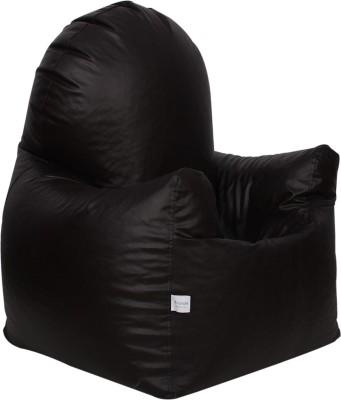 Sattva XXXL Arm Chair Bean Bag Chair  With Bean Filling(Brown)