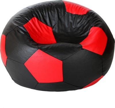 Comfy Bean Bags XXL Bean Bag  With Bean Filling(Black, Red)