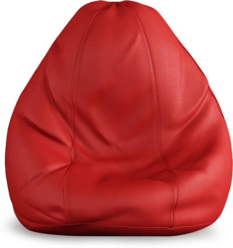 Beans Bag House XXL Bean Bag Cover(Red)