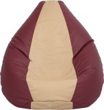 VizwaSS XXXL Teardrop Bean Bag  With Bea...