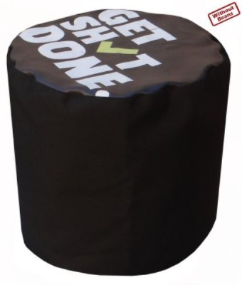 Fun ON XXL Digital Printed Puffy Get Shit Done Bean Bag Footstool  Cover (Without Filling)