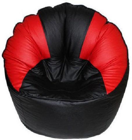 View Elite India XXXL Bean Bag Cover(Black, Red) Furniture (Elite India)