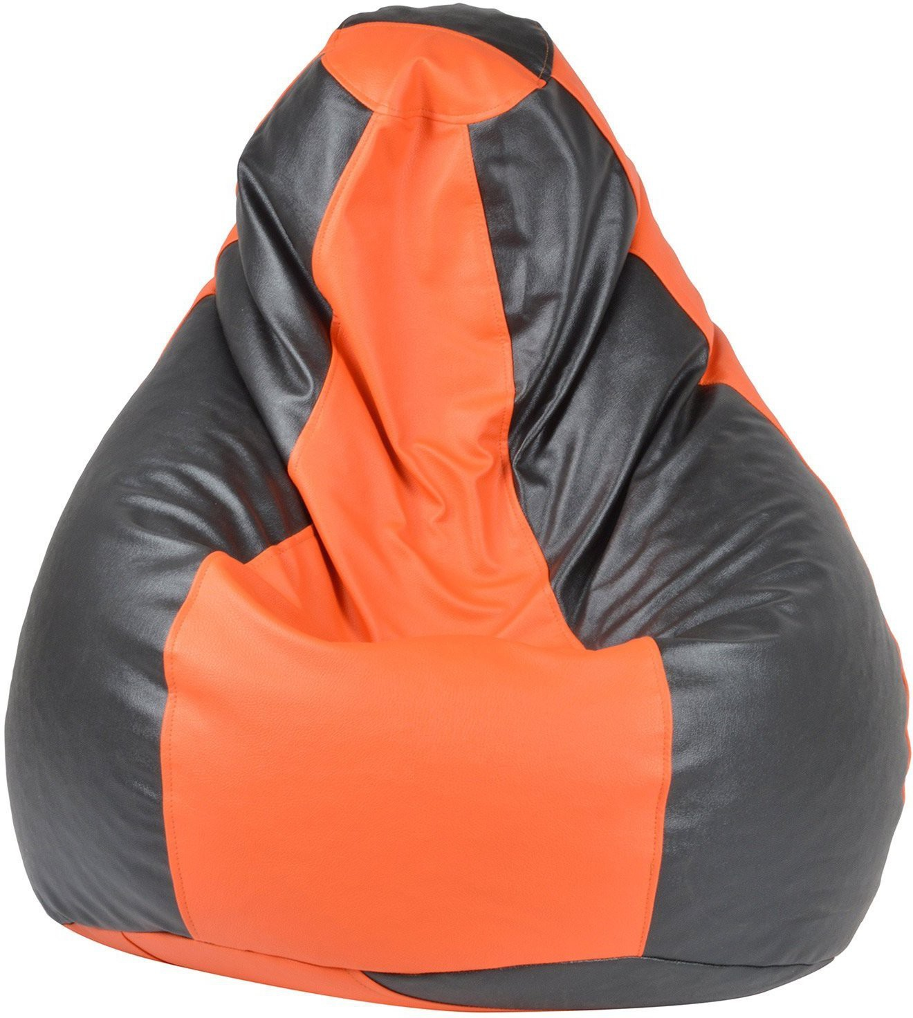 View Galaxy Decorz XL Bean Bag Cover(Orange, Black) Furniture (Galaxy Decorz)
